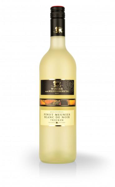 "Pinot Meunier Blanc de Noir trocken ""Rebsortenlinie"" QbA"